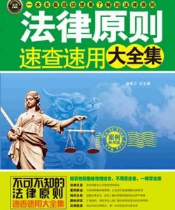 《法律原则速查速用大全集(案例应用版)》徐宪江_pdf电子书下载